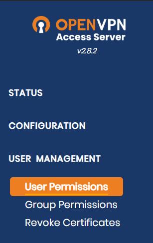 openvpn user permissions