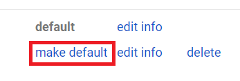make default